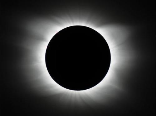 Photo d'une éclipse solaire...