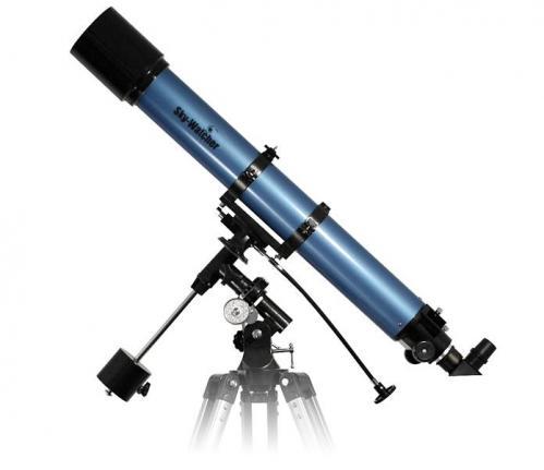Lunette sur une monture équatoriale (image Skywatcher)