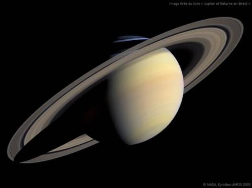 Photo de la planète Saturne (image Cassini)