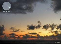 Ison photographiée depuis l'hémisphère Sud (image Luc Perrot)