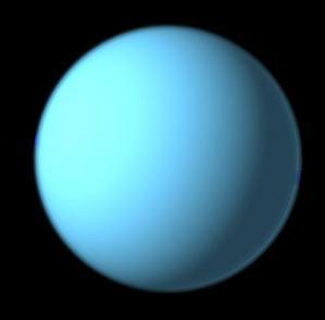Photo de la planète Uranus (cliché réalisé par Hubble)