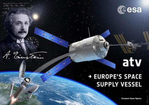 Affiche ATV-4 Albert Einstein (image ESA)