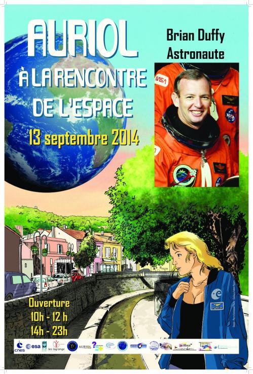 Affiche officielle des Rencontres de l'Espace Auriol 2014