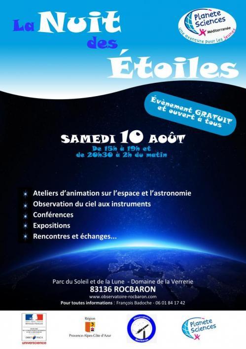 Nuit des Etoiles Rocbaron (image Cassiopée)