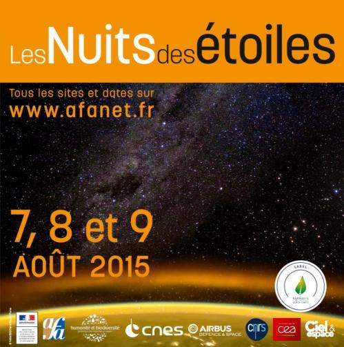 Affiche Nuit des Etoiles 2015 (image AFA)