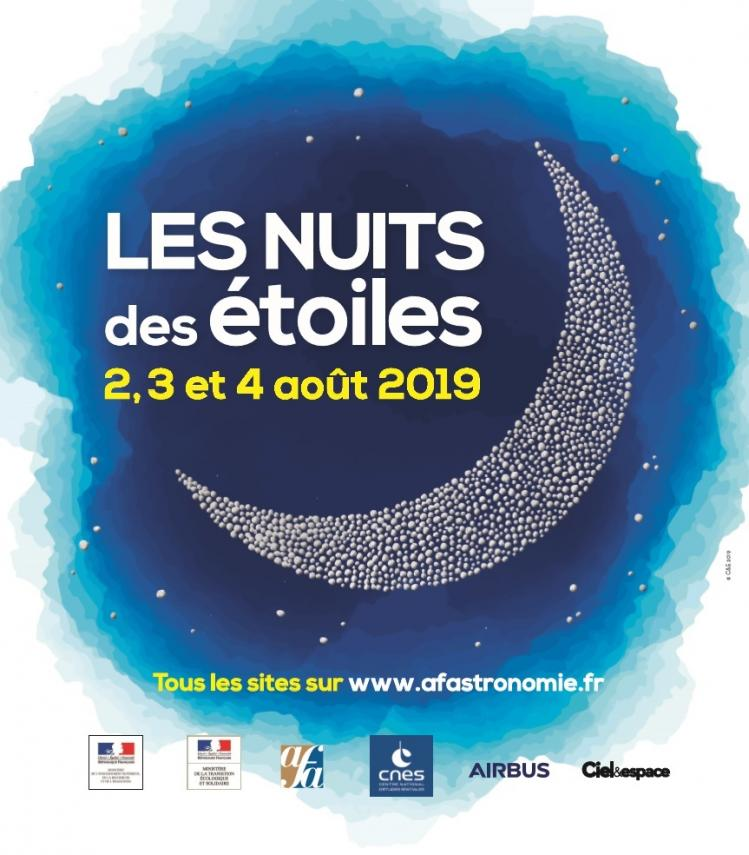 Affiche Nuit des Etoiles 2019 (image AFA)