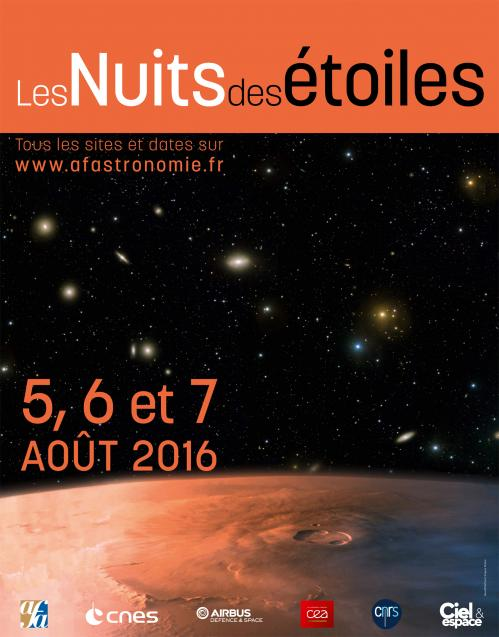 Affiche Nuits des étoiles 2016 (image AFA)