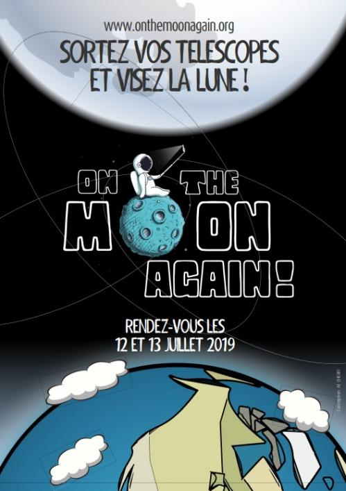 Affiche On The Moon Again (image M. Cherfi)