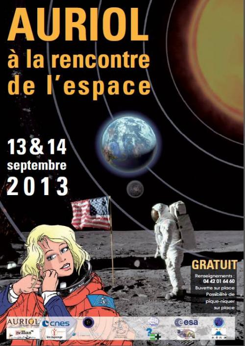 Affiche officielle des Rencontres Spatiales Auriol 2013