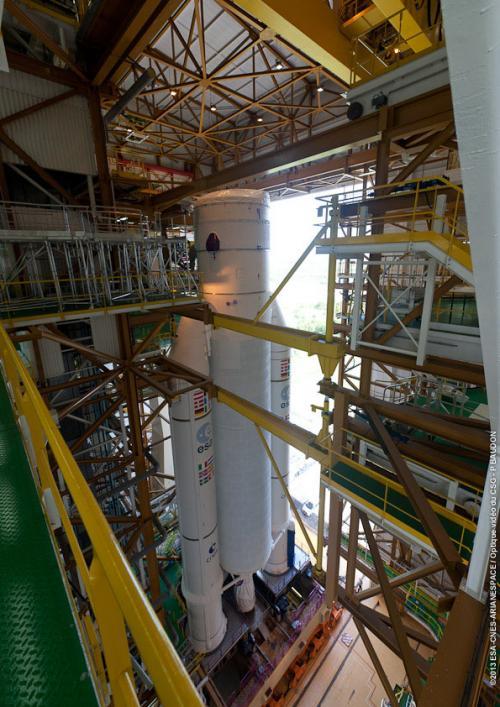 Ariane 5 en construction (image Arianespace)