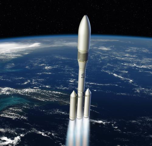 Vue d'artiste de la fusée Ariane 6 (image ESA)
