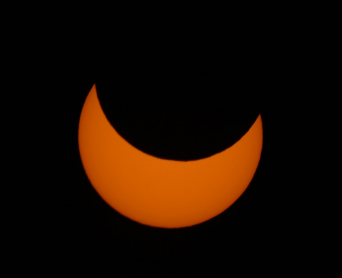 Eclipse partielle de Soleil (image Bruno David)