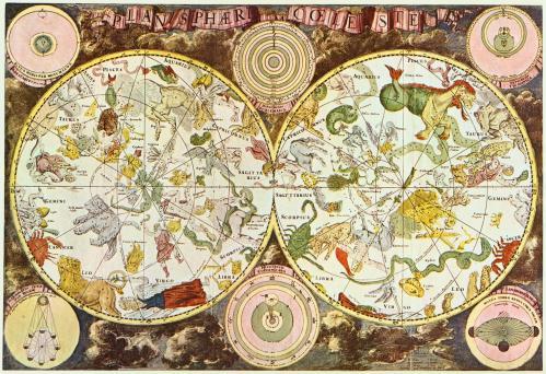 Carte céleste du17ième siècle réalisée par Frederik de Wit (source: Anh Tuyet Do)
