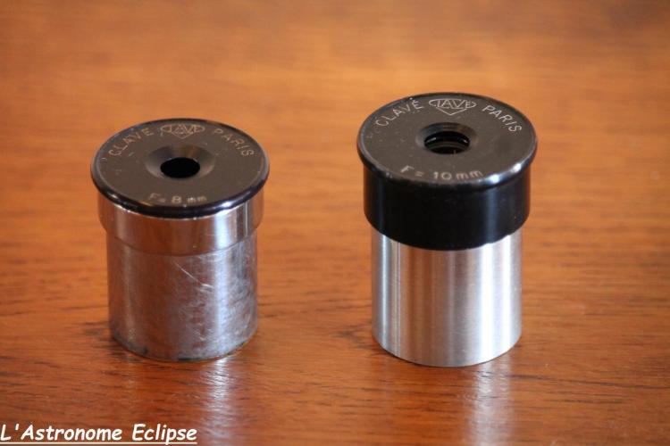 Clavé chromé à gauche, et Clavé non-chromé (image L'Astronome Eclipse)