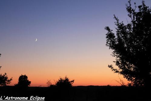 Conjonction Lune-Saturne Août 2013 (image L'Astronome Eclipse)
