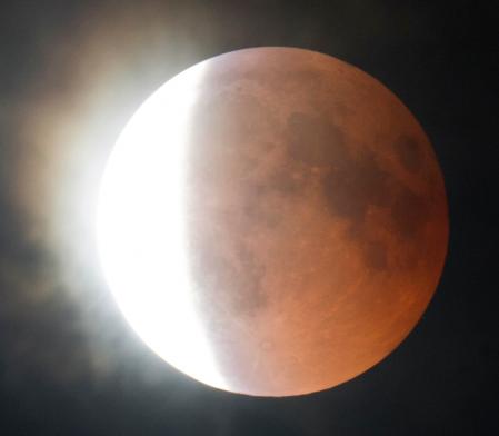 Eclipse lunaire 27 Juillet 2018 (image L'Astronome Eclipse)
