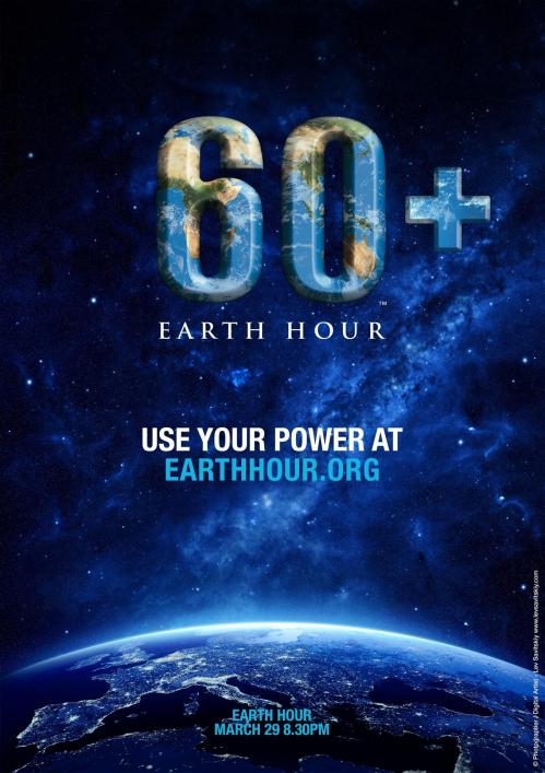 Affiche officielle Earth Hour (image WWF)