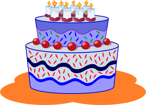 Gâteau anniversaire 2016 (image Openclipart.org)