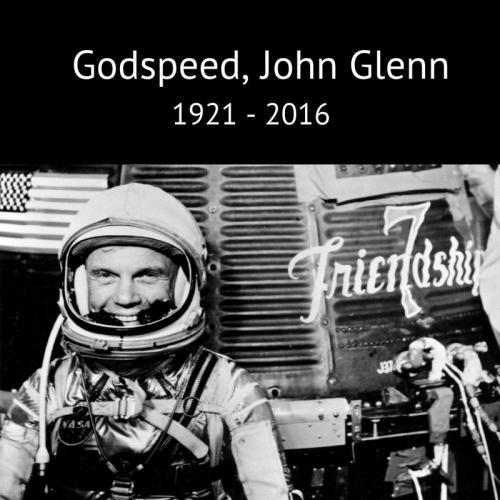 Hommage à John Glenn (image NASA)