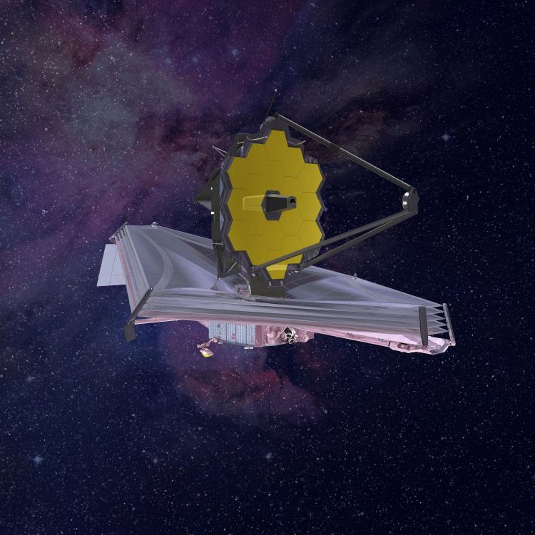 image d'artiste du JWST (image NASA)