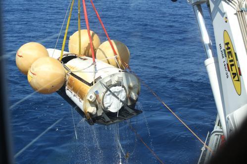 L'IXV en cours de récupération (image ESA)