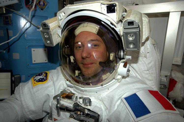 L'astronaute Thomas Pesquet (image CNES)