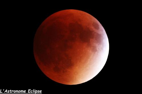 L'éclipse à 04h21 (image L'Astronome Eclipse)