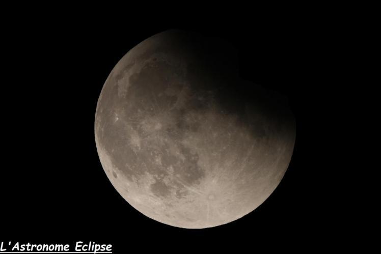 Passage de la Lune dans la pénombre (image L'Astronome Eclipse)