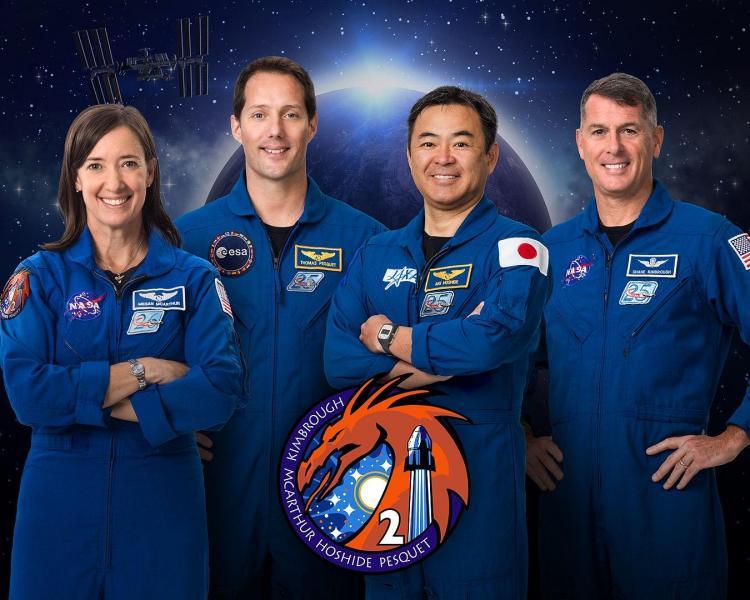 L'équipage Space X Dragon 2 (image Nasa)