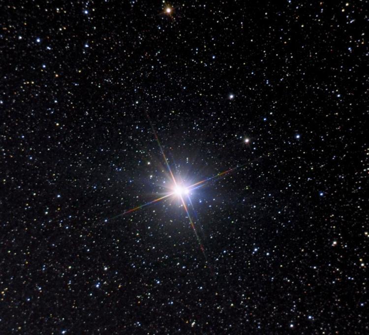 L'étoile double Albiréo (Image Henryk Kowalewski)