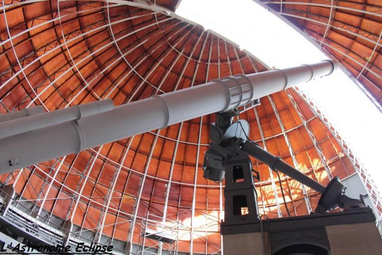 La grande lunette de l'observatoire de Nice (image Astropleiades)