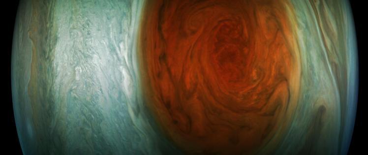 La Grande Tache Rouge vue par Juno (image NASA)
