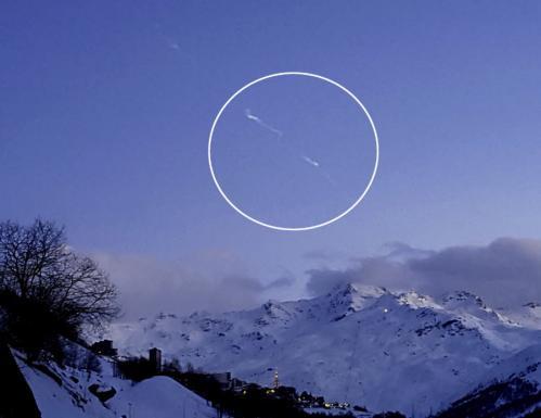 La rentrée atmosphérique vue depuis l'Isère (image B. Housset)