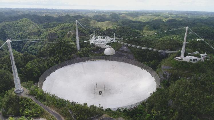 Le radiotélescope ARECIBO (image NAIC)