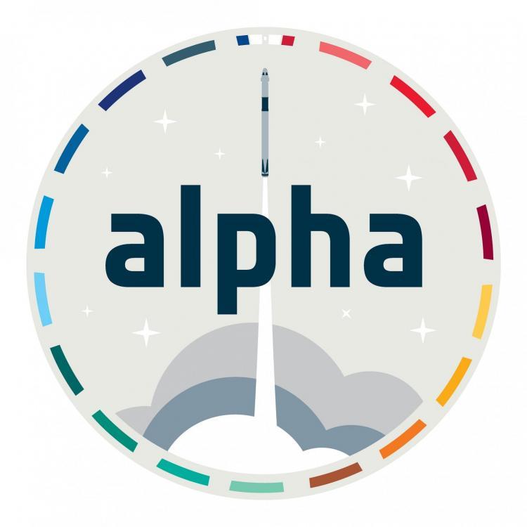 Logo de la mission ALPHA (image CNES)