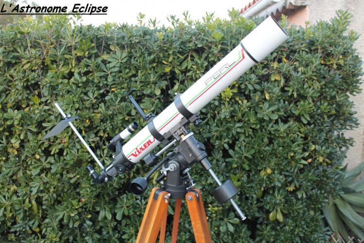 Lunette Perl-Vixen sur monture équatoriale (image L'Astronome Eclipse)