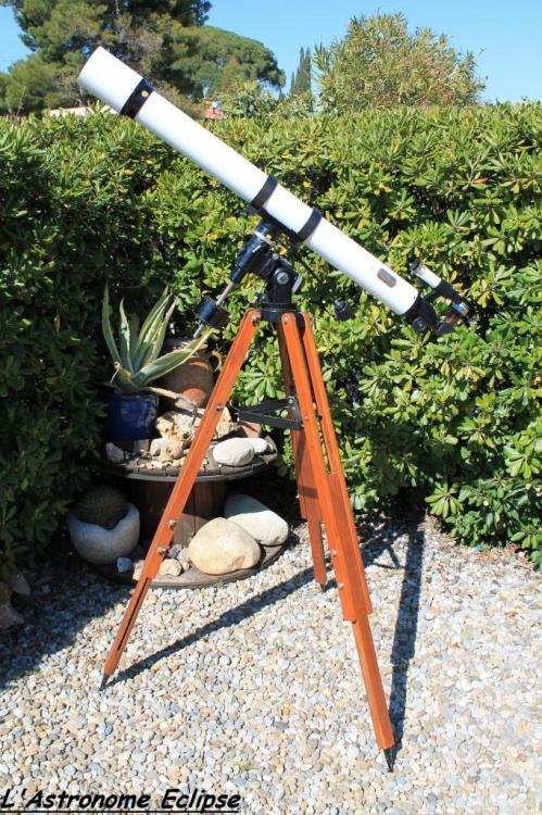 Lunette Vixen 80-1200 (image L'Astronome Eclipse)