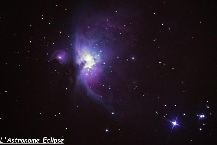 Nébuleuse d'Orion (image L'Astronome Eclipse)