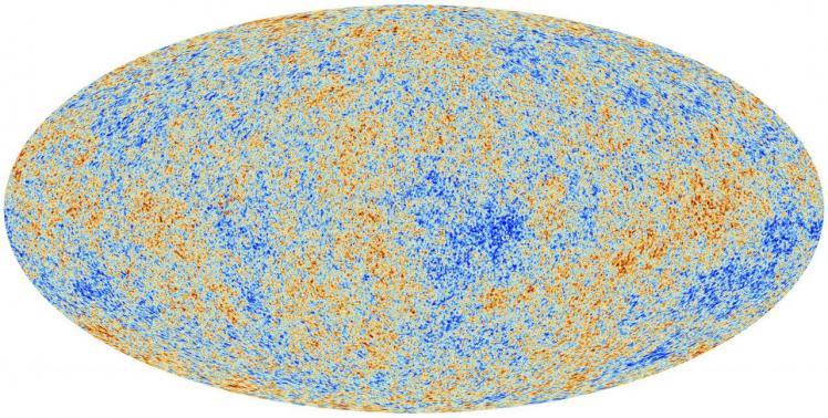 Représentation du fond diffus cosmologique (image planck.fr)