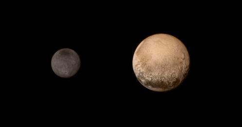 Pluton et Charon vues par New Horizons (image NASA)