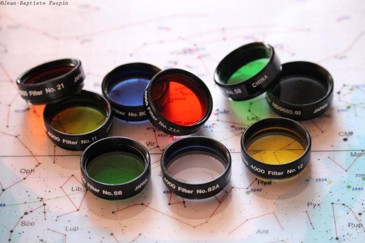 Quelques filtres colorés (image Jean-Baptiste Faupin)