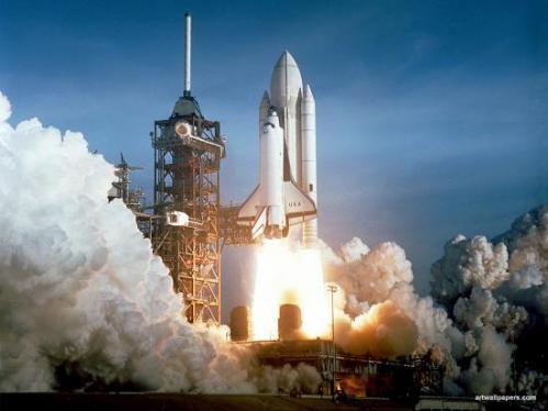 Décollage de Challenger (image NASA)
