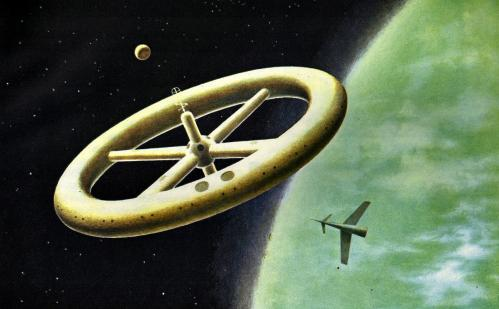 Station spatiale 1956 (image H. mc Naught)