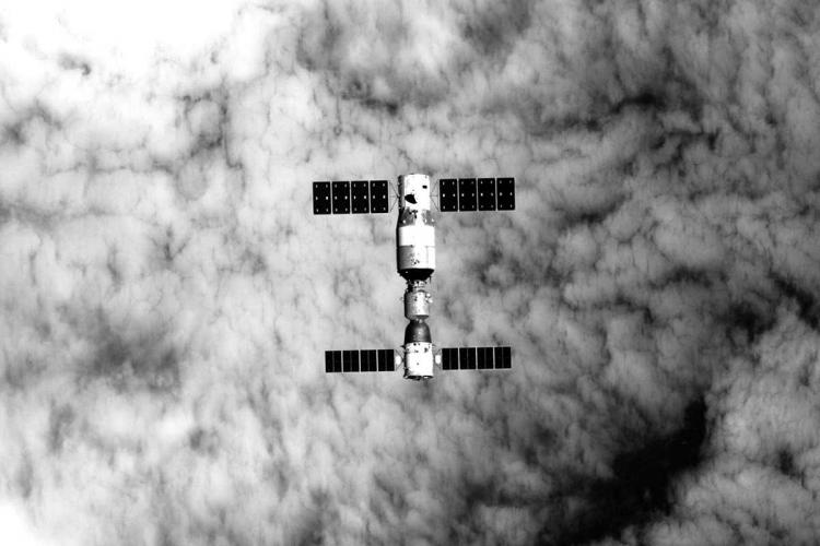 Station spatiale tiangong 2 image xinhua china academy of sciences china manned space engineering office
