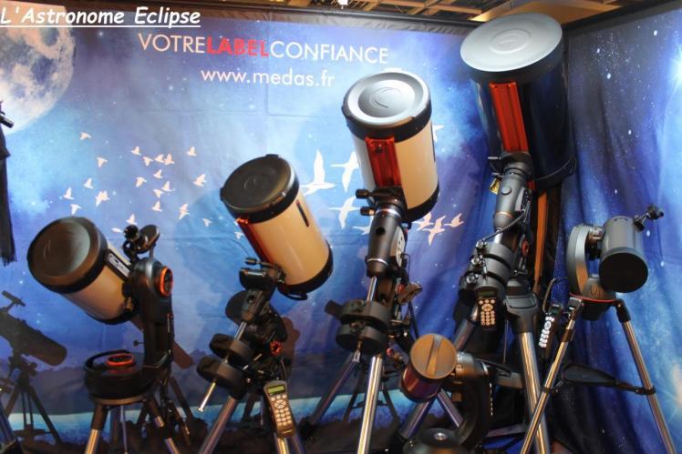 Télescopes de différents diamètres (image L'Astronome Eclipse)