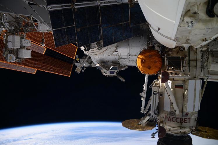Thomas Pesquet à bord de l'ISS (image NASA-ESA)