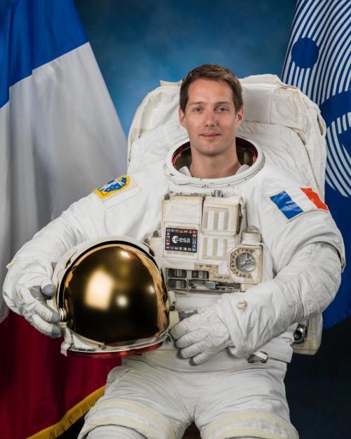 L'astronaute français Thomas Pesquet (image ESA)