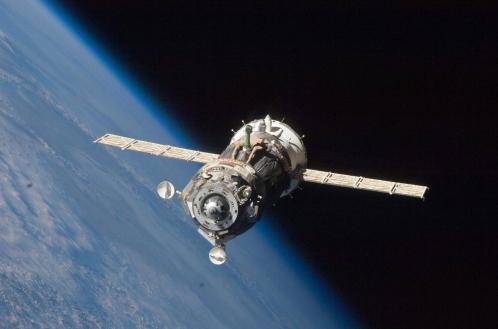 Vaisseau Soyouz en orbite (image NASA)