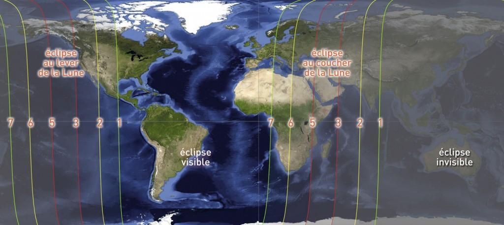 Visibilité de l'éclipse (image Autourduciel)
