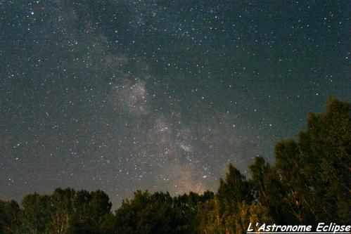 Voie Lactée dans le département du Lot (image L'Astronome Eclipse)